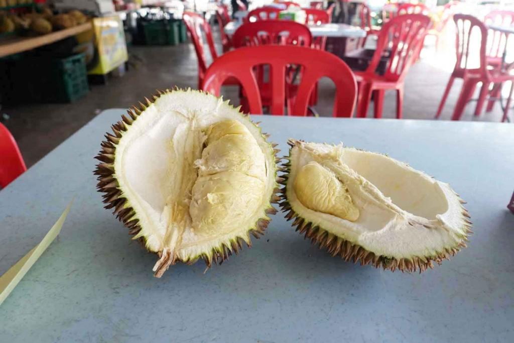 Durian Fruchtfleisch Nahaufname