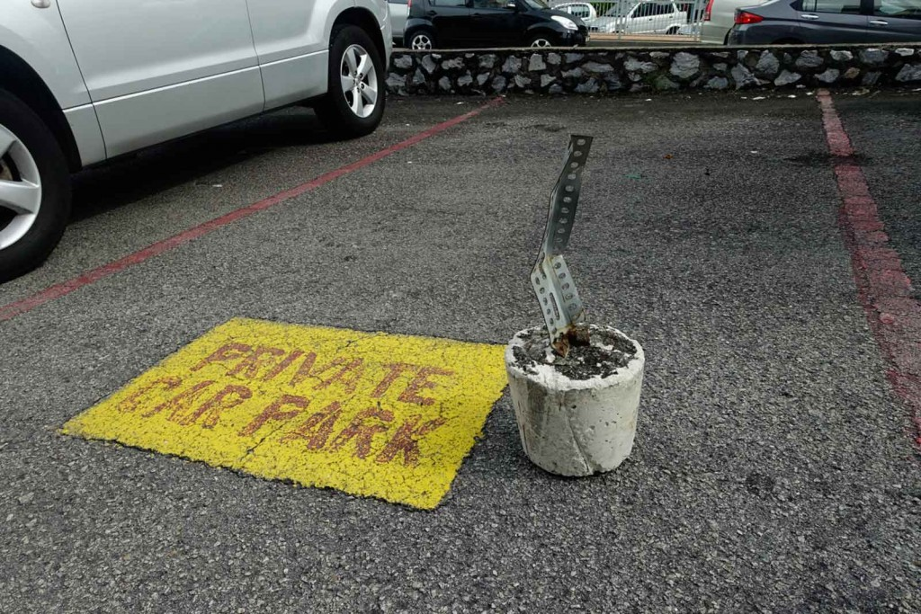 Parkplatzreservierer