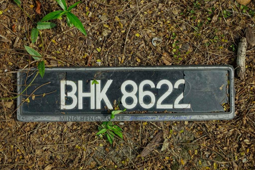 Malaiisches Nummernschild