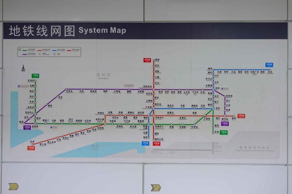 Shenzhen Metro Liniennetzplan
