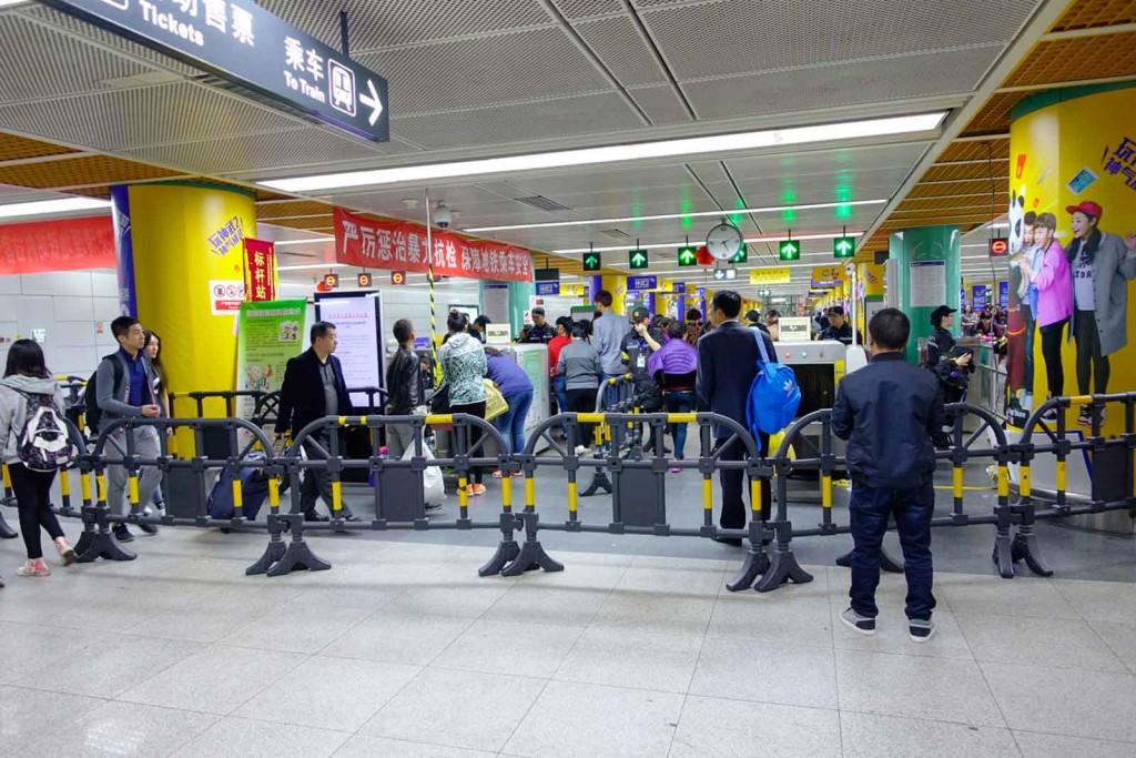 Shenzhen Metro Sicherheits-Check