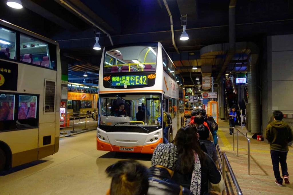 Bus E42 in Hongkong