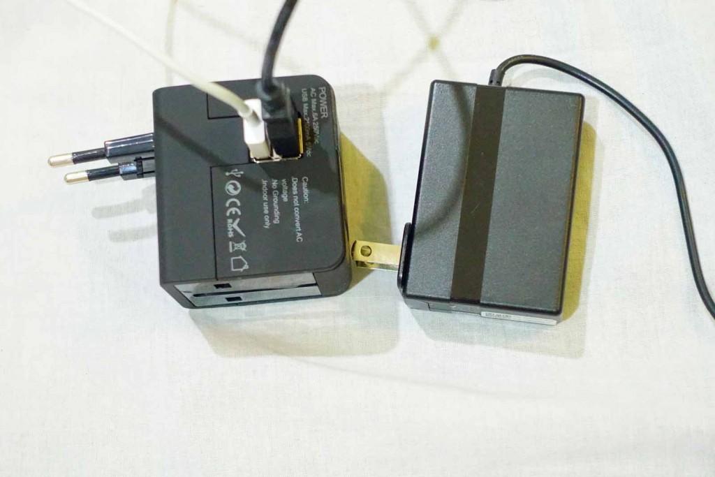 Reiseadapter mit Laptop-Netzteil