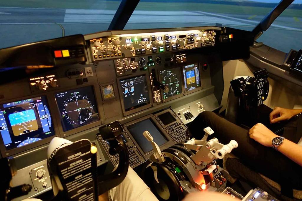 Blick vom Pilotensessel