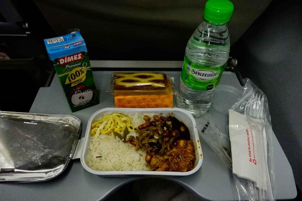 Nasi Lemak bei Air Asia