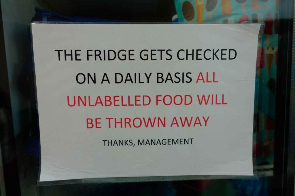 """""""Food-will-be-thrown-away""""-Hinweis"""