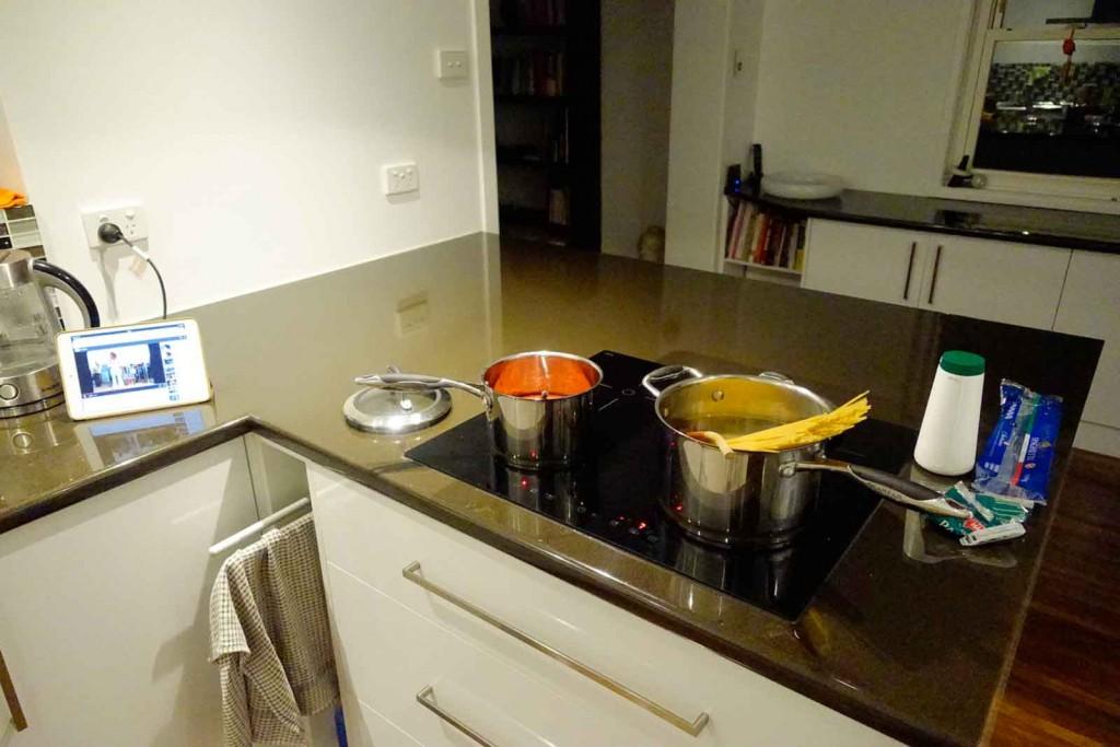 Spaghetti in der Kuchnia