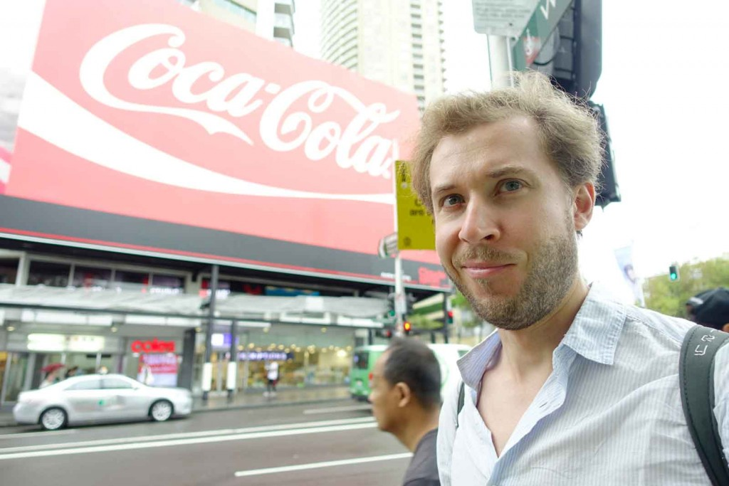 Coca-Cola-Schild am Kings Cross