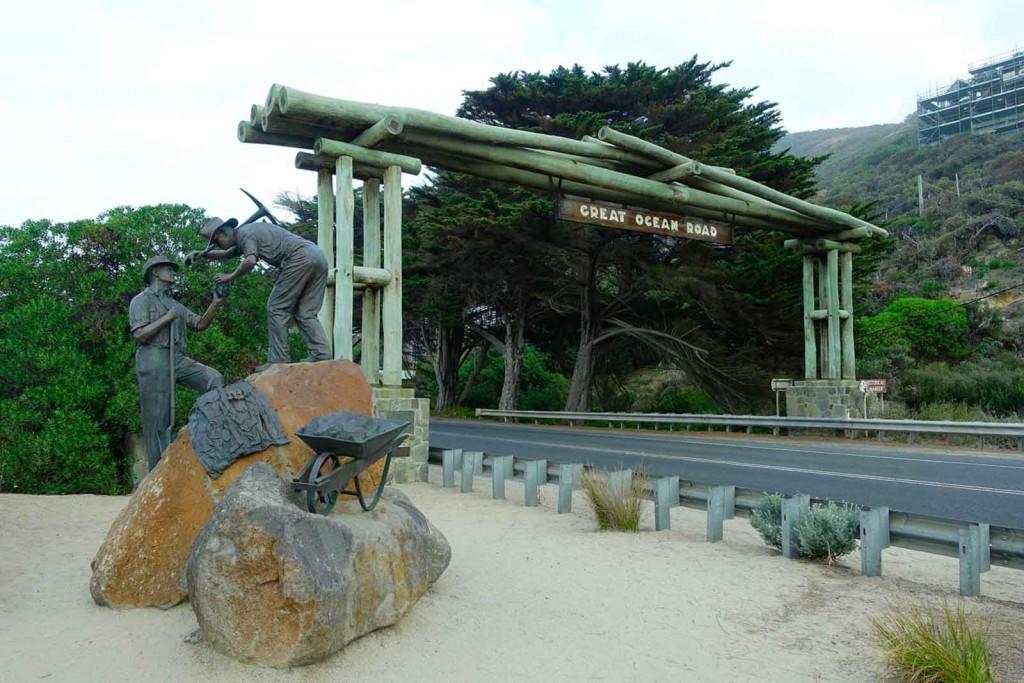 Eingangsschild der Great Ocean Road