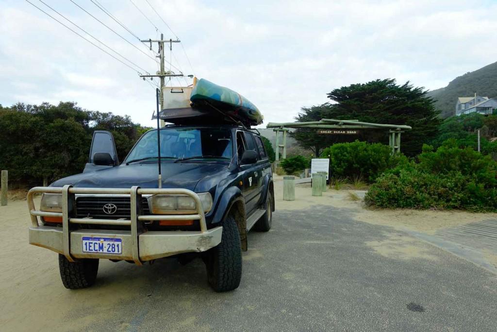 Land Cruiser an der Great Ocean Road