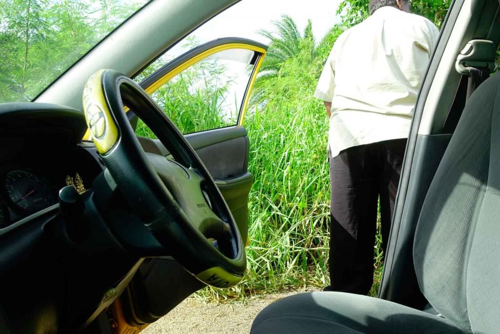 Taxifahrers Notdurft