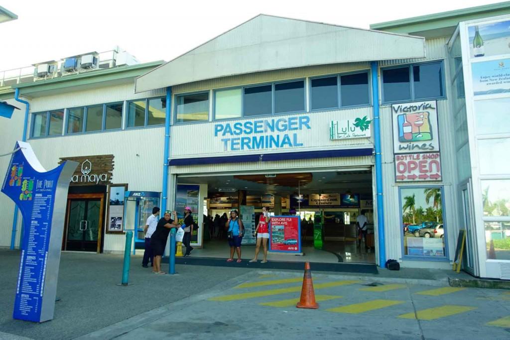 Eingang Port Denarau