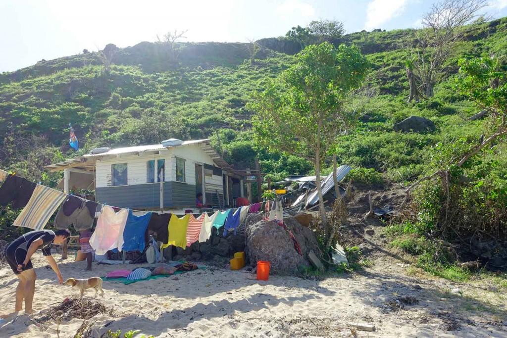 Hütte von Einheimischen