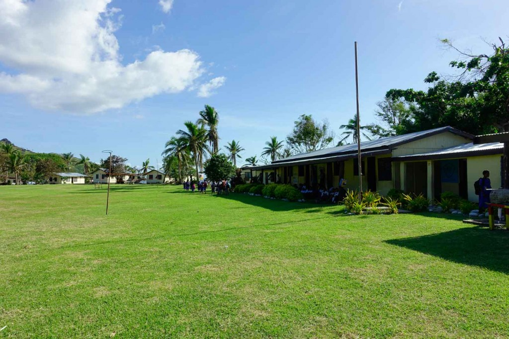 Schulgebäude auf Waya