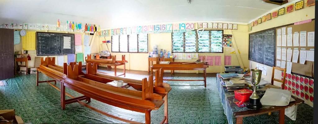 Blick in den Klassenraum
