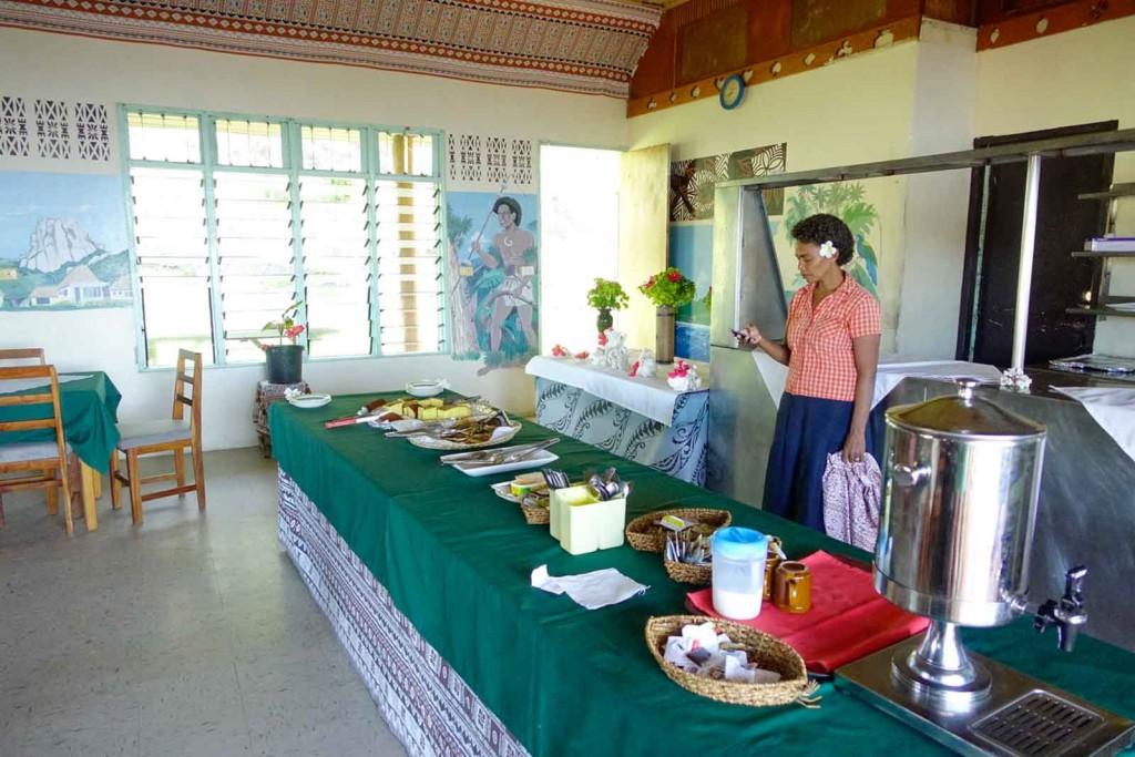 Buffet im Waya Lailai Ecohaven