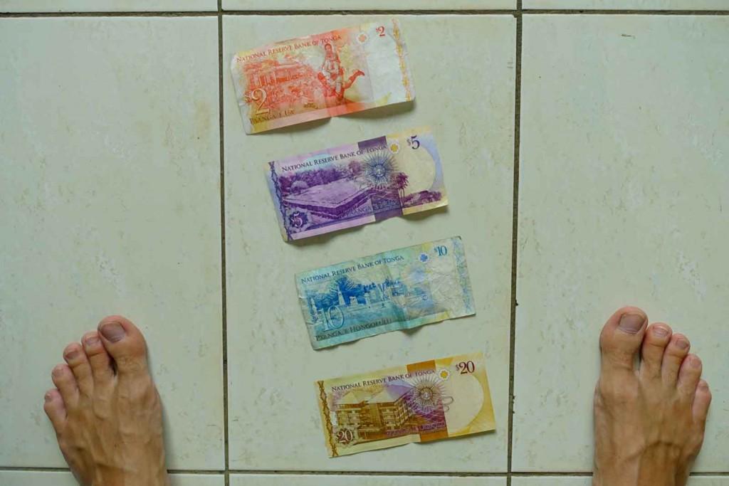 Tonganisches Geld, hinten