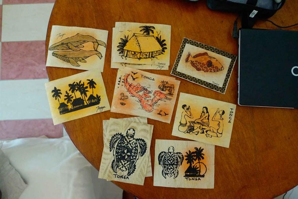 Tapa-Postkarten von Sione Loseli