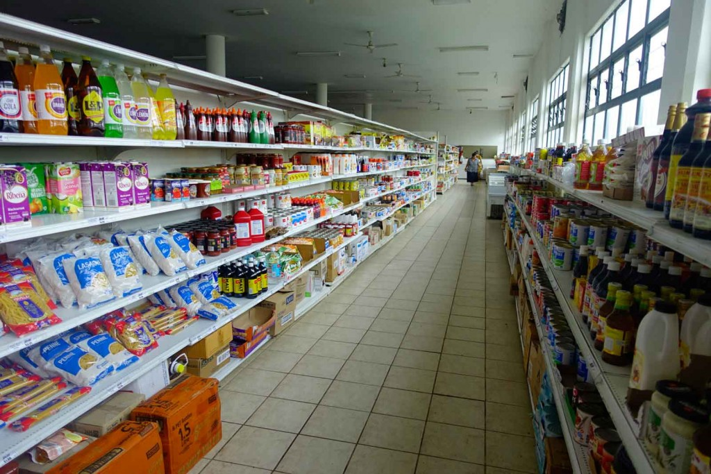 Im Supermarkt auf Tonga