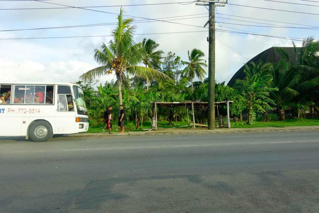 Bushaltestelle auf Tonga