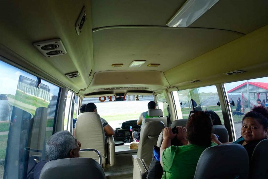 Im Bus in Nuku'alofa