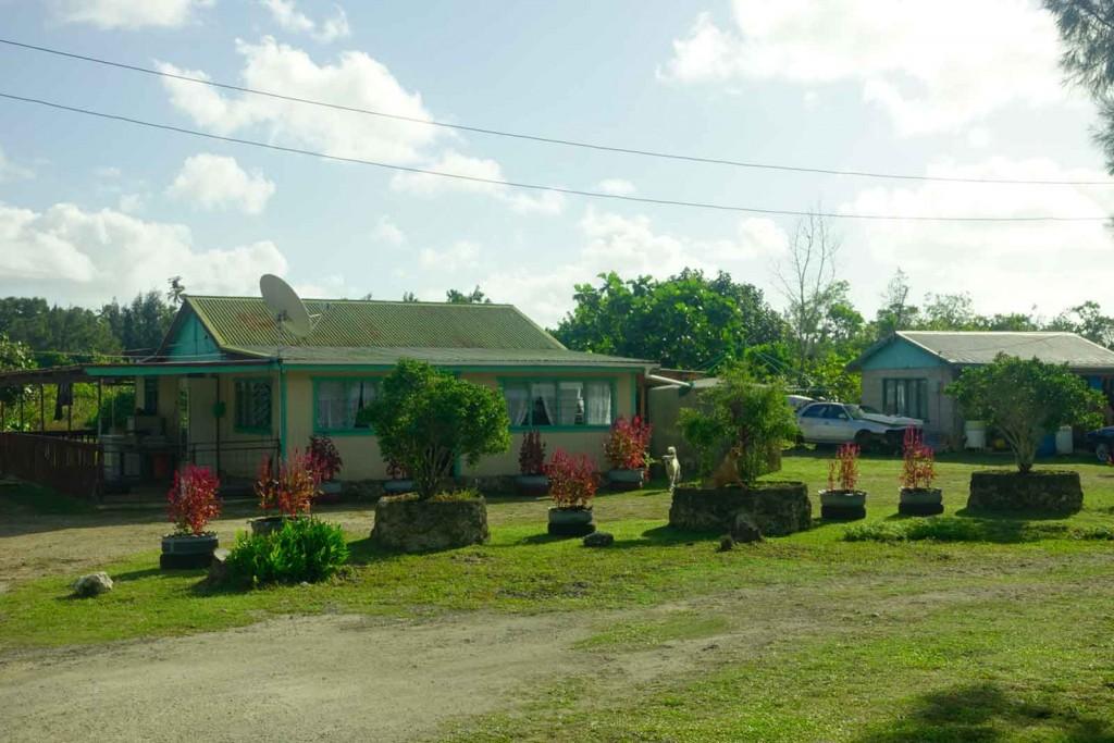 Gehobene Hütte auf Tonga