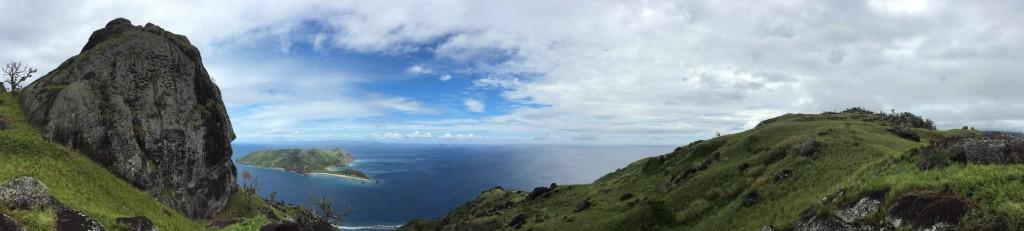 Panorama auf dem Weg zum Gipfel auf Waya Lailai