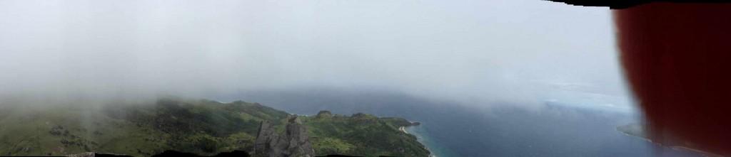 Verrissenes Panorama vom Gipfel